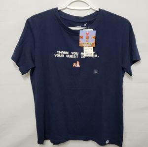 Uniqlo x Super Mario Women's XL Navy Color Tshirt